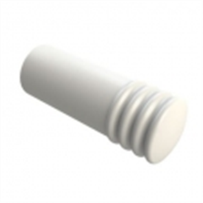 DOOR STOP DOOR/WALL MOUNT CUSHIONED WHITE 453WH 75mm