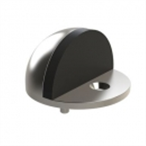 DOOR STOP FLOOR MOUNTED SATIN ZINC 27 x 48mm 50008