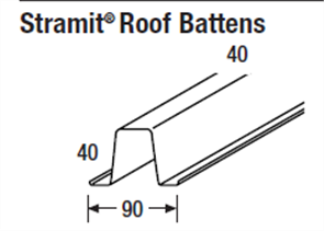 BATTEN ROOF 0.55BMT -