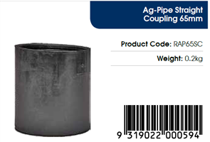 AGFLO 65mm COUPLING/JOINER