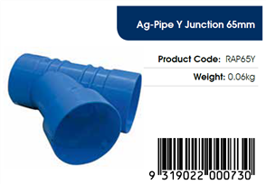 AGFLO 65mm Y JUNCTION