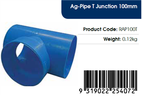AGFLO 100mm T JUNCTION