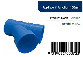 AGFLO 100mm Y JUNCTION