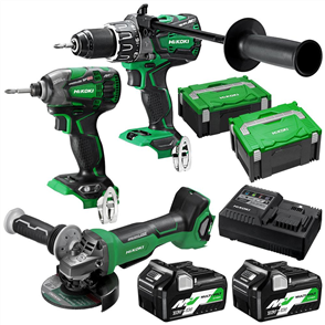 HIKOKI (HITACHI) 3 PIECE PACK MULTIVOLT BRUSHLESS COMBINATION KC36DDBL(HRZ)