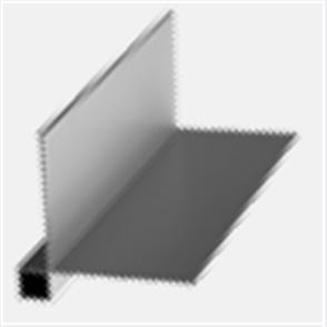 SHADOWCLAD FLASHING EXTERIOR BOX SMALL BOX NATURAL ANODISED 3000mm
