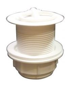 PLUG & WASTE STD WHITE 40mm