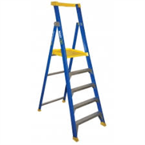 LADDER FIBREGLASS PLATFORM P150 - 6 STEP