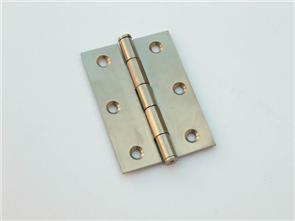 HINGE BUTTON TIPPED LOOSE PIN POLISHED STAINLESS STEEL 85 x 60 x 2.0mm
