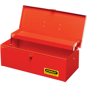 TOOL BOX STANLEY SINGLE COMPARTMENT W/- CANTILEVER TRAY SMALL