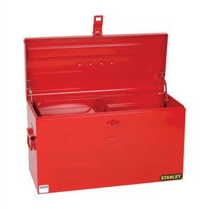 TOOL BOX STANLEY LARGE W/- SLIDING HALF TRAY