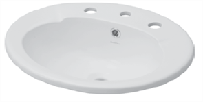 BASIN VANITY AVON 1TH PLASTIC P&W 500 X 430mm
