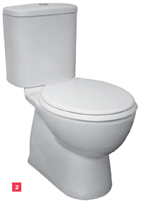 TOILET SUITE MILANO CLOSE COUPLED INCL SC SEAT
