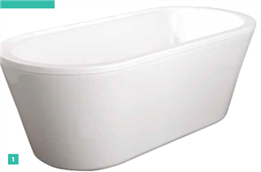 BATH MERGE MKII FREESTANDING 1740 X 800 X 600mm