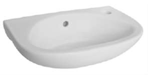 BASIN WALL CLASSICA COMPACT 1TH POP UP WASTE 400 X 250mm