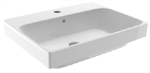BASIN SEMI INSET GEMELLI RECT. 1TH POP UP WASTE 550 X 410mm
