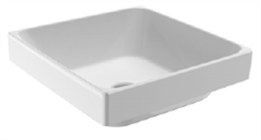 BASIN SEMI INSET GEMELLI SQUARE 0TH POP UP WASTE 400 X 400mm