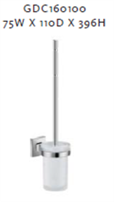 CUBE WALL TOILET BRUSH & HOLDER GLASS