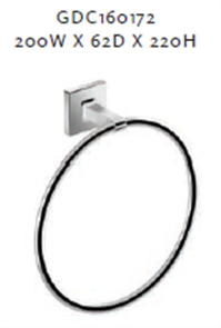 CUBE TOWEL RING 200X220MM