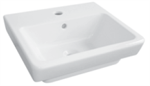 BASIN COUNTER TOP QUADO 1TH POP UP WASTE 350 X 350mm