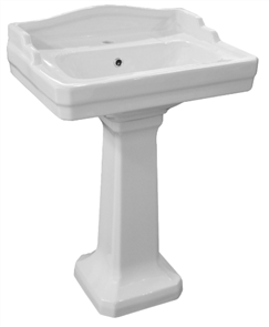 BASIN PEDESTAL ONLY COLONIAL 300 X 300 X 520mm (BASIN EXTRA)