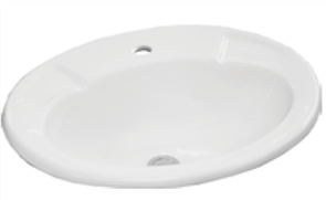 BASIN VANITY ESTI 1TH CHR P&W 560 X 440mm