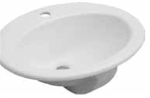 BASIN VANITY LISA 1TH CHR. P&W 495 x 405mm