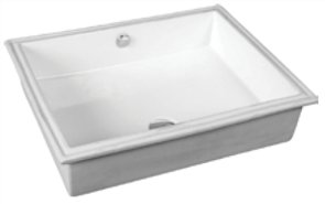 BASIN VANITY QUADO 0TH SQUARE UNDER COUNTER PLASTIC P&W 400 X 300mm