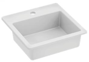 BASIN VANITY QUADO SQUARE 1TH POP UP WASTE 420 X 420mm