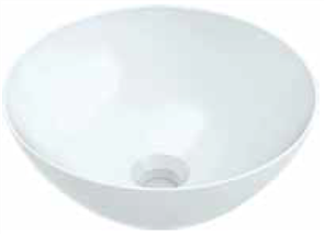 BASIN VENEZIA BOWL COUNTER TOP 0TH POP UP WASTE 350 X 350mm