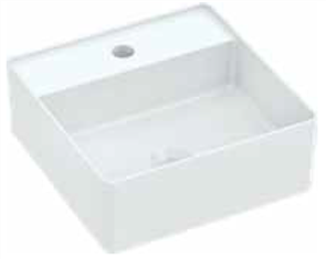 BASIN VENEZIA SQUARE COUNTER TOP 1TH POP UP WASTE 350 X 350mm
