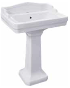 BASIN WALL COLONIAL 1TH POP UP WASTE 610 X 455mm (PEDESTAL EXTRA)