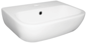 BASIN WALL EMILIA 450 1TH POP UP WASTE 455 X 340mm