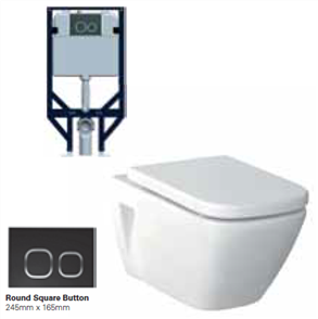 TOILET SUITE GEMELLI P WH ECONOFLUSH INCL SEAT (BUTTON SOLD SEPERATELY)