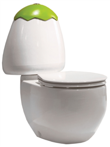 TOILET SUITE EGG JUNIOR  C/C INCL SC SEAT & STND CNCTR (Coloured Lid Sold Seperately)