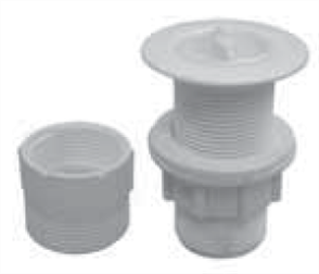 PLUG & WASTE 32/40MM W/- OVERFLOW PLASTIC WHITE (13910)