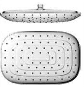 FERLA / FELINO SHOWER HEAD RECTANGULAR CHROME