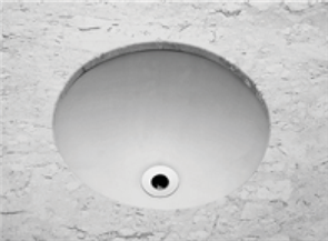 BASIN VANITY EMILIA ROUND UNDER COUNTER 0TH POP UP WASTE 360 X 360mm
