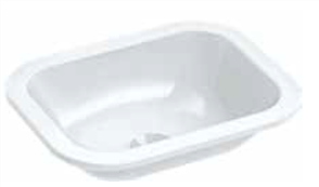 BASIN VANITY EMILIA RECT. 0TH POP UP WASTE 390 X 310mm