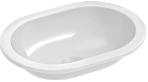 BASIN VANITY EMILIA OVAL 0TH POP UP WASTE 430 X 310mm