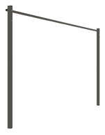 AUSTRAL FOLD DOWN GROUND MOUNT KIT 2.4M WOODLAND GREY