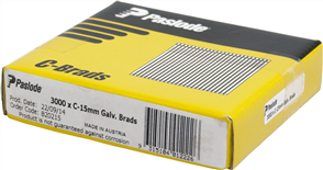 PASLODE  16GA C SERIES BRADS PK3000 - 15mm