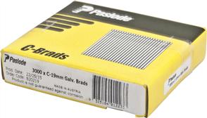 PASLODE  16GA C SERIES BRADS PK3000 - 19mm