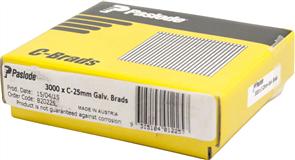 PASLODE  16GA C SERIES BRADS PK3000 - 25mm