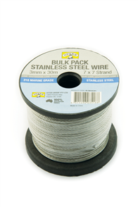 BALUSTRADE WIRE / CABLE #316 STAINLESS STEEL 3mm X 30M