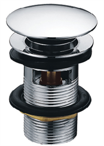 BASIN CHROME PLUG & WASTE OUTLET DOME 32-40mm