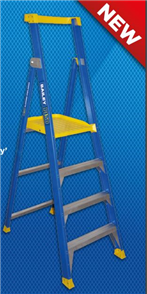 LADDER FIBREGLASS PLATFORM P150 - 4 STEP