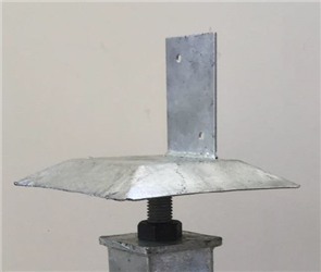 UNI-PIER HEAD ONLY WITH ANT CAP SCREW TOP 65 x 65mm