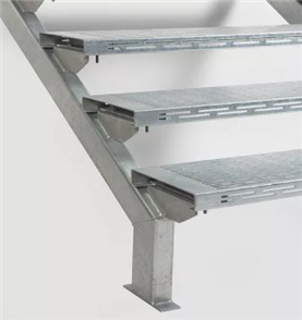 STAIR STRINGER HD GALV PAIR 15 STEP (TREAD EXTRA) 2800mm
