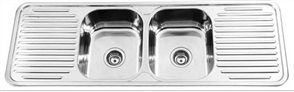 SINK CLASSIC DOUBLE BOWL DOUBLE DRAINER