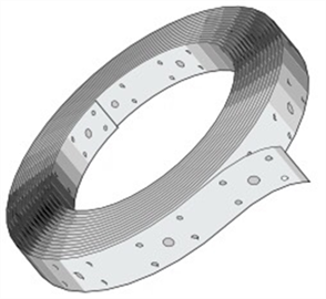 PERFORATED HOOP IRON 15M ROLL (0.8 x 30mm)
